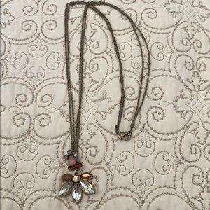 Loft floral pendant necklace